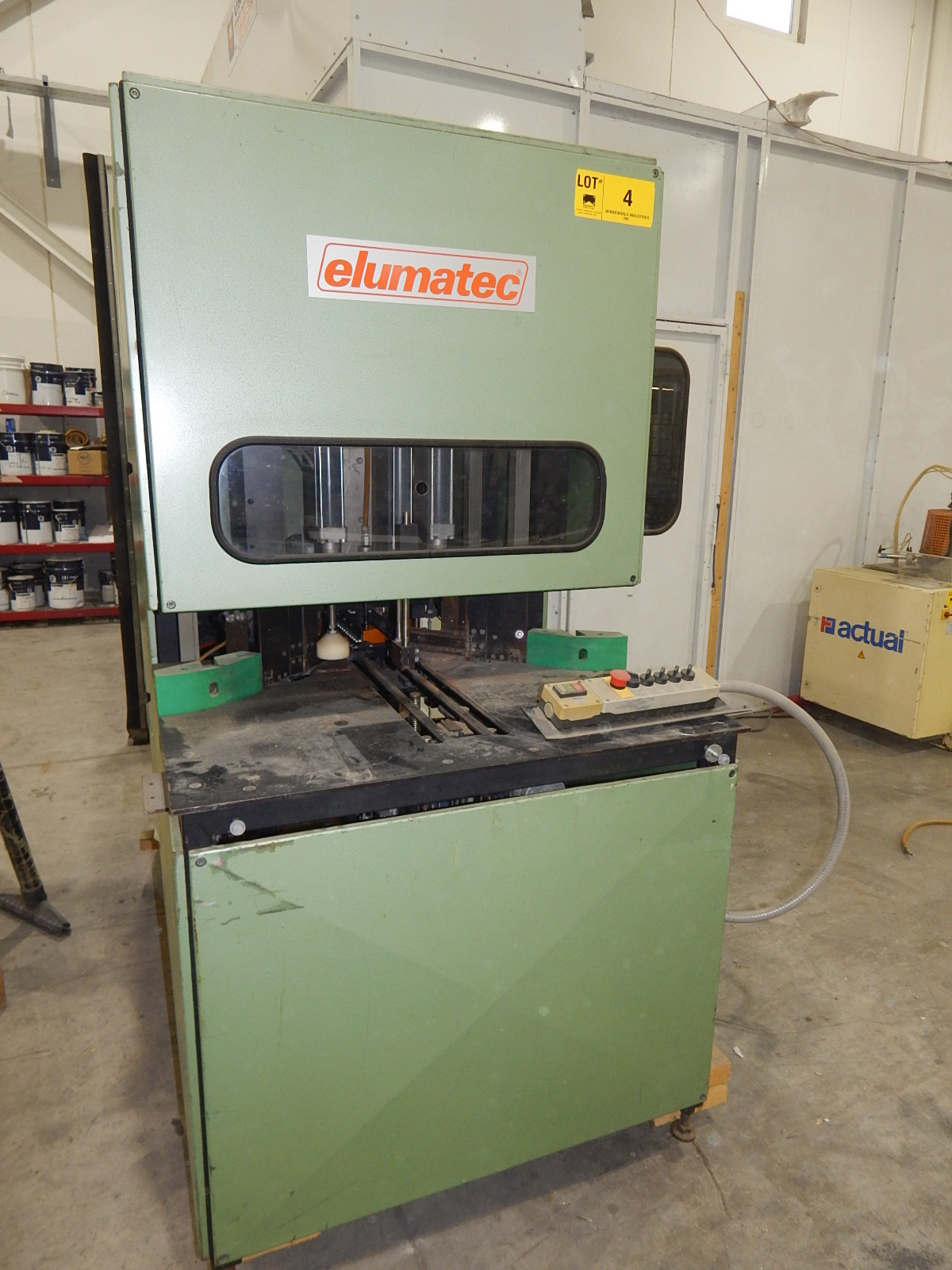 ELUMATEC 180/WP-3RU SINGLE HEAD CORNER CLEANER WITH 3,400 RPM, 230V/3PH/60HZ, S/N: 2009 (CI) - Image 4 of 6