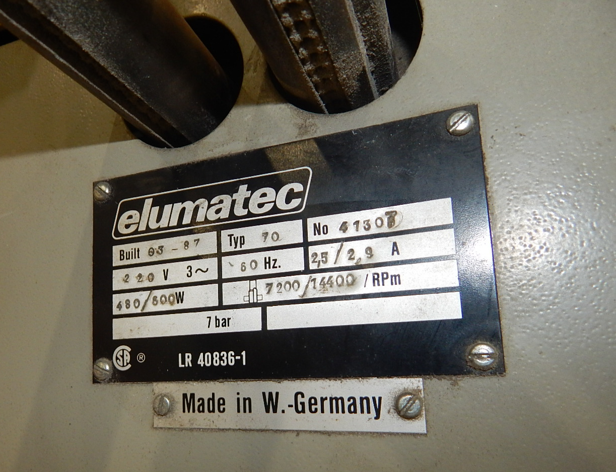 ELUMATEC 70 COPY ROUTER MACHINE WITH 7200/14400RPM S/N: 41307 (CI) - Image 5 of 5