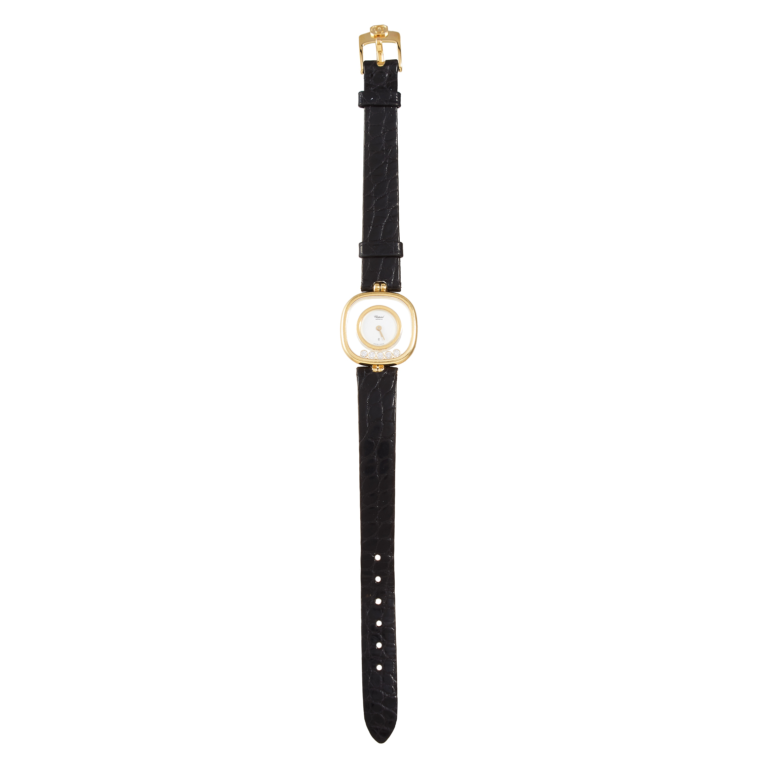 Los 130 - A 'HAPPY DIAMOND' LADIES WRISTWATCH, CHOPARD in yellow gold, in 'happy diamond' design, comprising