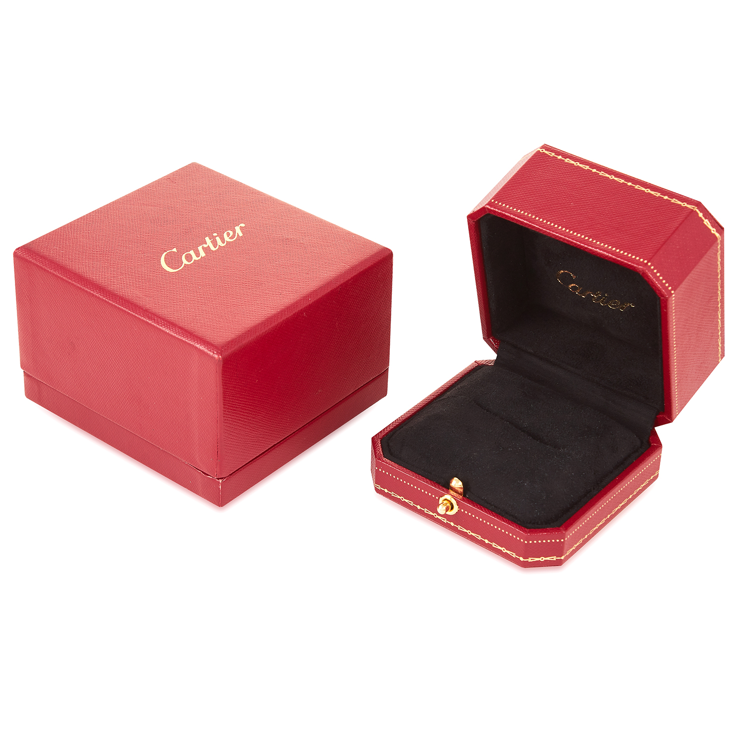 Los 192 - A CARTIER LARGE RING / JEWELLERY BOX