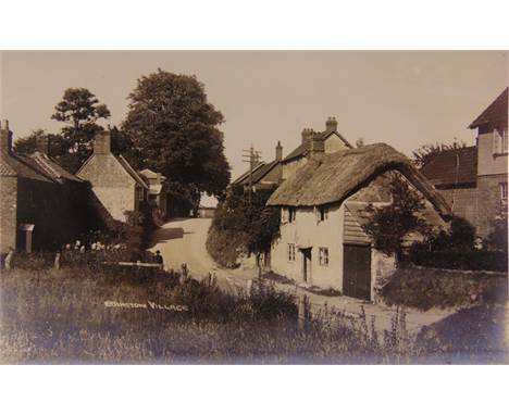 POSTCARDS - SOMERSET  Approximately 165 cards, comprising real photographic views of houses at Brean Down (by Pearson); Woodb