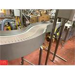 """S/S Frame Product Conveyor, 6' L x 12"""" W, with 45° and 90° Turns, Drive and Spare Gear Reducing"""