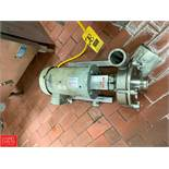 """Fristam 5 HP Pump with Baldor 1,760 RPM Motor and 2.5"""" x 3"""" S/S Head, Clamp Type Rigging Fee: $50 *"""