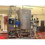 Klenzade Single-Tank Skid-Mounted CIP System with Fristam 30 HP Pump, Shell and Tube Heat Exchanger,
