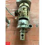 """Tri Clover 7.5 HP Pump with Reliance 1,760 RPM Motor and 2"""" x 4"""" S/S Head, Clamp Type Rigging"""