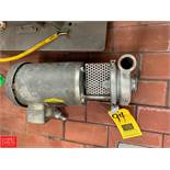 """Tri Clover 1.5 HP Pump with 2"""" x 2.5"""" S/S Head, Clamp Type Rigging Fee: $50 *LOCATED IN: Kiel,"""
