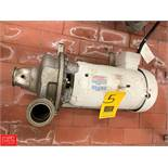 """Ampco 7.5 HP Pump with Baldor 3,450 RPM Motor and 2"""" x 2.5"""" S/S Head, Clamp Type Rigging Fee: $50 *"""