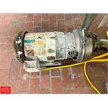 """APV 7.5 HP Pump with Baldor 1,760 RPM Motor and 3"""" x 4"""" S/S Head, Clamp Type Rigging Fee: $50 *"""