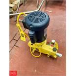 Milton Roy Metering Pump , Model MRB11R12B3APPNNNY Rigging Fee: $50 *LOCATED IN: Kiel, Wisconsin