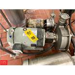 """Fristam 7.5 HP Pump with Baldor 1,770 RPM Painted Motor and 2.5"""" x 3"""" S/S Head, Clamp Type Rigging"""