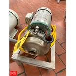 """Tri Clover 1.5 HP Pump with Sterling S/S Clad Motor and 1.5"""" x 1.5"""" S/S Head, Clamp Type Rigging"""