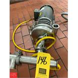 """Tri Clover 2 HP with Baldor 3,450 RPM Motor and 1.5"""" x 2"""" S/S Head, Clamp Type Rigging Fee: $50 *"""