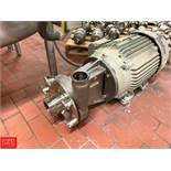 """Fristam 30 HP Pump with Baldor 3,320 RPM Motor and 3"""" x 4"""" S/S Head, Clamp Type Rigging Fee: $50 *"""