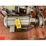 """Fristam 7.5 HP Pump with Baldor 1,770 RPM S/S Clad Motor and 2.5"""" x 3"""" S/S Head, Clamp Type"""