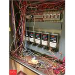 (5) Allen Bradley 2 HP Power Flex 4 Variable Frequency Drives with Relays, Breakers and (2) S/S