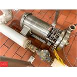 """Tri Clover 1.5 HP Pump with Baldor 1,760 RPM S/S Clad Motor, 2"""" x .5"""" S/S Head, Clamp Type Rigging"""