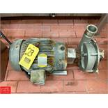 """Fristam 15 HP Pump with Baldor 3,450 RPM Motor and 2.5"""" x 3"""" S/S Head, Clamp Type Rigging Fee: $"""