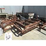 (Lot) (10) 39''W x 76''L Flat Steel Carts
