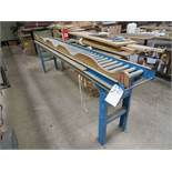 12''W x 10'L Adjustable Height Roller Conveyor