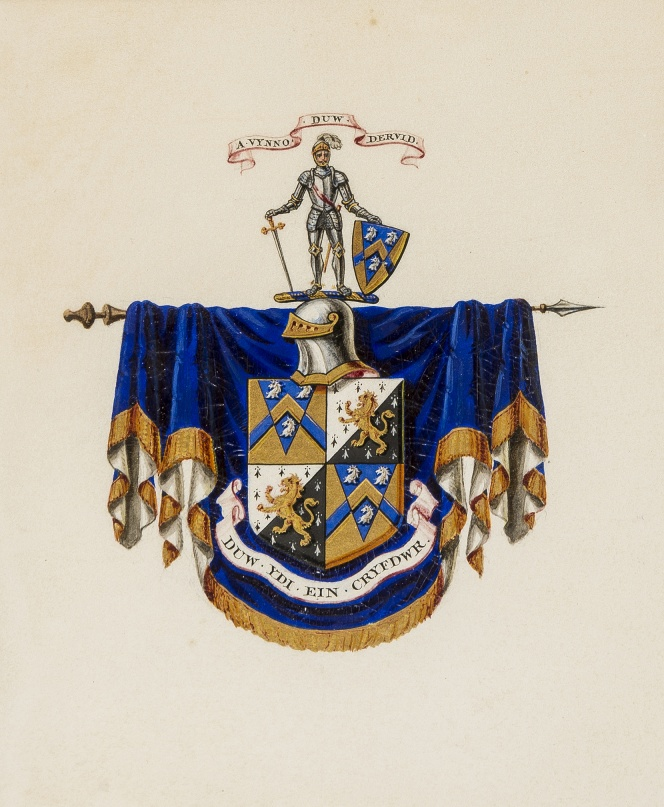 Lot 62 - Heraldry.- Coat of arms of Edwards of Toxteth Park, Liverpool and Broughton Park, Manchester, …