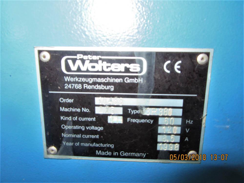 "Lot 56 - PETER WOLTERS MDL. 3R380 LAPPING MACHINE SINGLE WHEEL TYPE, 120V/1PH/60HZ, WHEEL DIAMETER: 15"","