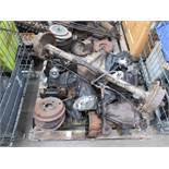 Pallet of Triumph TR2/6 Diffs, casing and axle