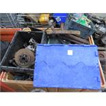 Stillage of Triumph car parts
