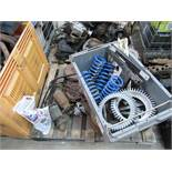 Pallet of Triumph car parts (mainly Fly Wheels)
