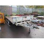 An Ifor Williams Flat Bed Trailer