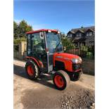 KUBOTA B2230 COMPACT TRACTOR, MODEL B2230, FULL GLASS CAB, 3 POINT LINKAGE, REAR PTO, 4 WHEEL DRIVE