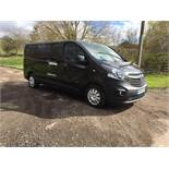 2016/66 REG VAUXHALL VIVARO 2900 CDTI 1.6 DIESEL BLACK PANEL VAN, SHOWING 0 FORMER KEEPERS