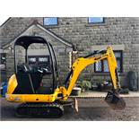 JCB 8014 1.5 TON MINI DIGGER / TRACKED EXCAVATOR, YEAR 2016, ONLY 1021 HOURS, GOOD TRACKS *PLUS VAT*