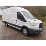 2016/16 REG FORD TRANSIT L4 JUMBO 350 TREND 2.2 DIESEL WHITE PANEL VAN, ONE OWNER *NO VAT*