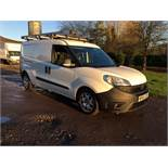 2015/65 REG FIAT DOBLO 16V MULTIJET 1.6 DIESEL WHITE PANEL VAN, SHOWING 0 FORMER KEEPERS *PLUS VAT*