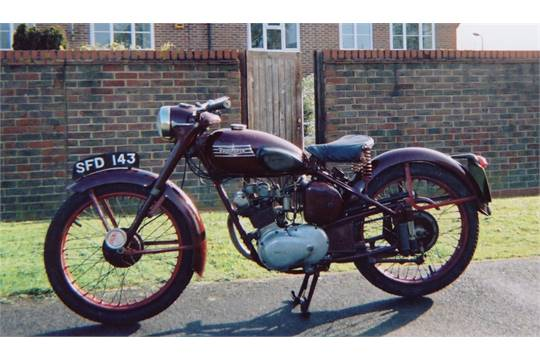 1955 150cc Triumph T15 Terrier Reg. No. SFD 143 Frame No. 14250 Engine No.  T15 14250 Delivered To