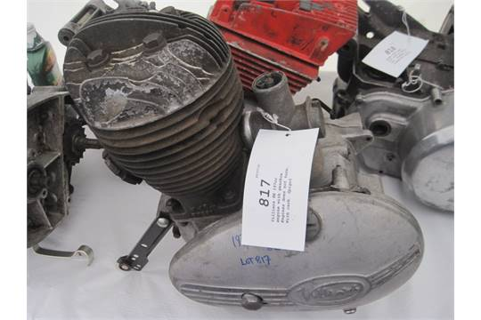 Villiers 8E 197cc engine with gearbox  Engines does not turn  With