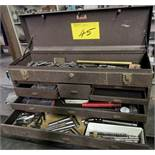 KENNEDY KIT TOOLBOX W/ TAPS, REAMERS, ETC.