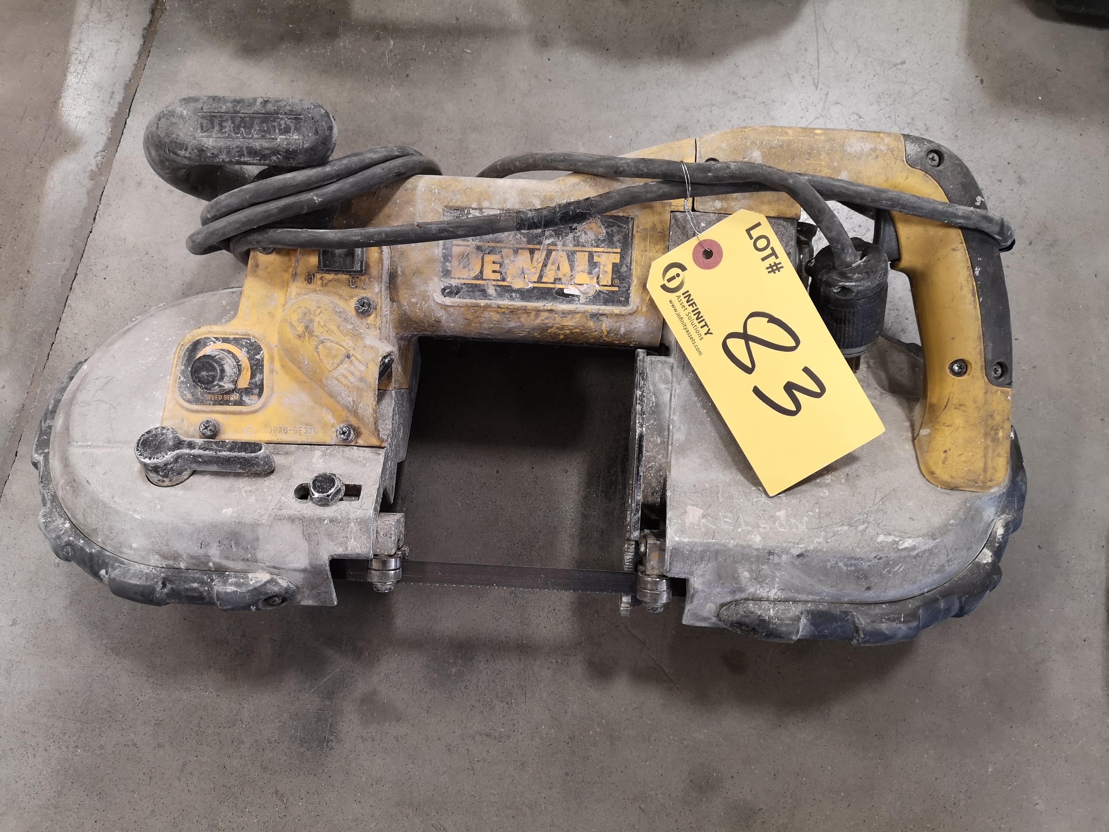 """DEWALT D28770 4-3/4""""(120MM) HEAVY DUTY DEEP CUT VARIABLE SPEED BANDSAW (LOCATED AT 1135 STELLAR"""