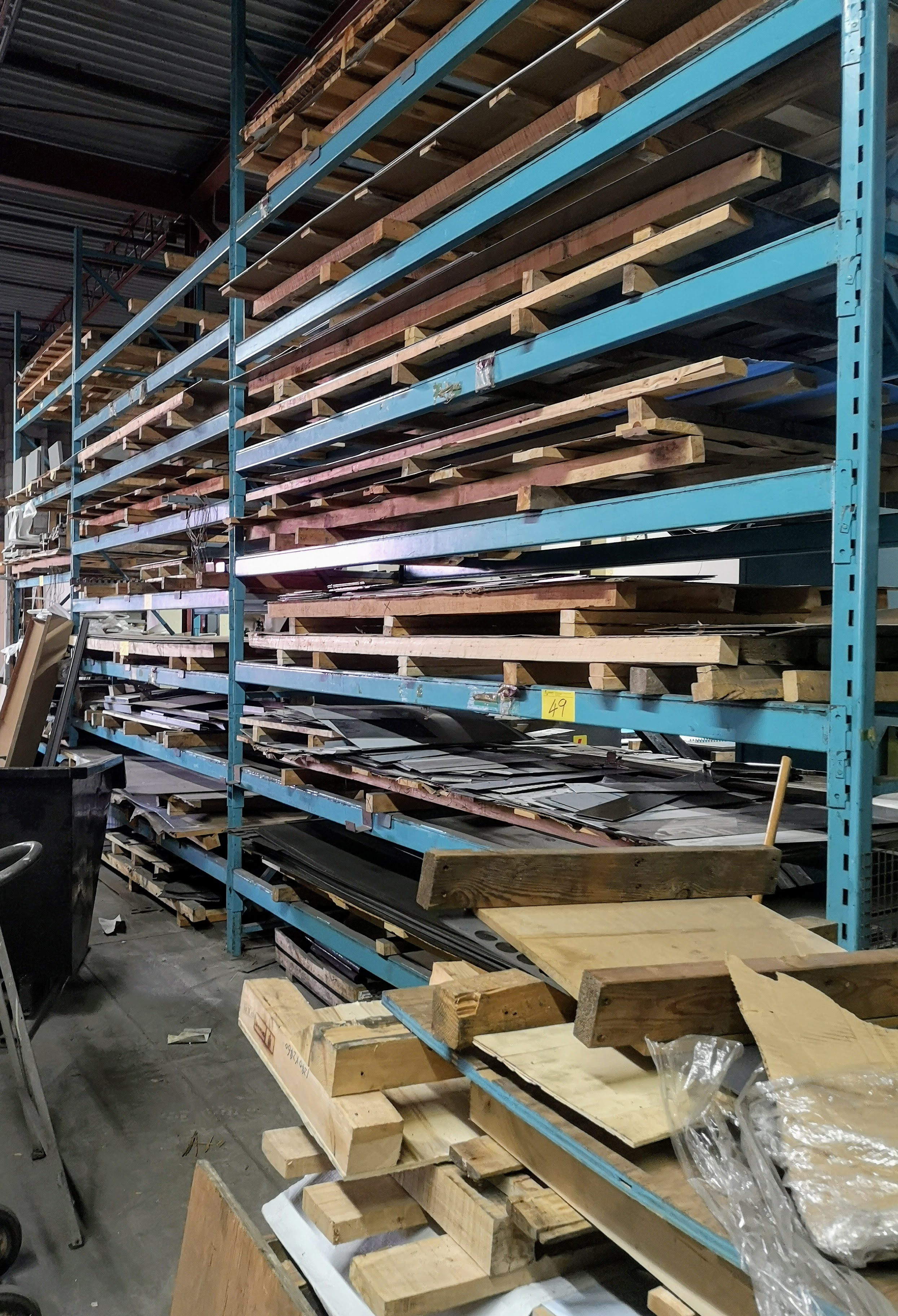 "LOT ASST. PALLET RACKING W/ (6) UPRIGHTS 16' X 42"" W/ (40) CROSSBEAMS 12' X 4"" AND (10) CROSSBEAMS"