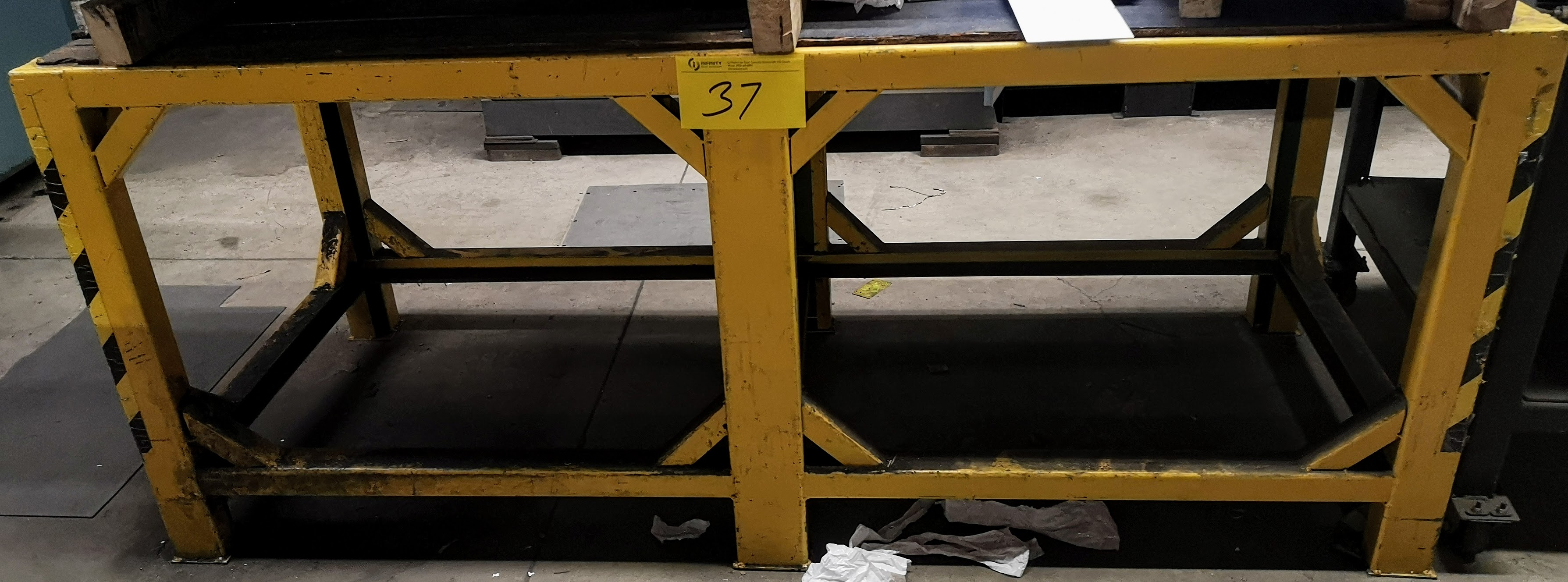 "Lot 37 - 72"" X 31"" X 30"" STEEL WORK TABLE"