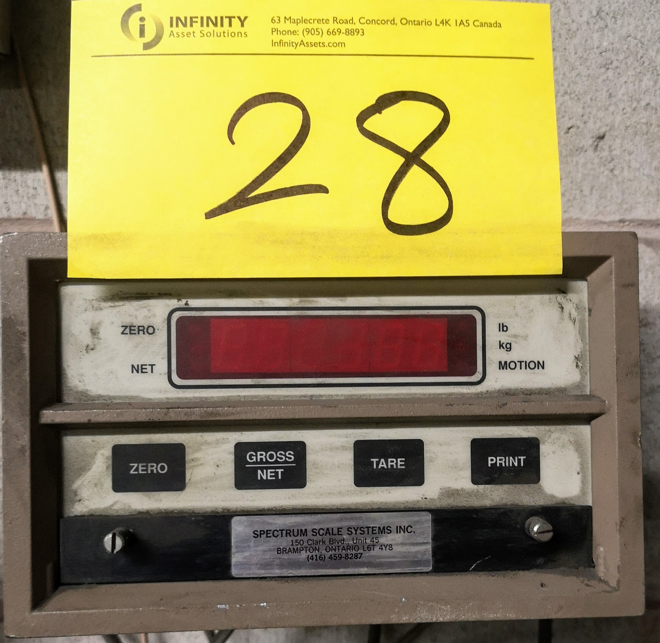 Lot 28 - SPECTRUM SYSTEMS FLOOR SCALE W/ DRO (AS-IS)