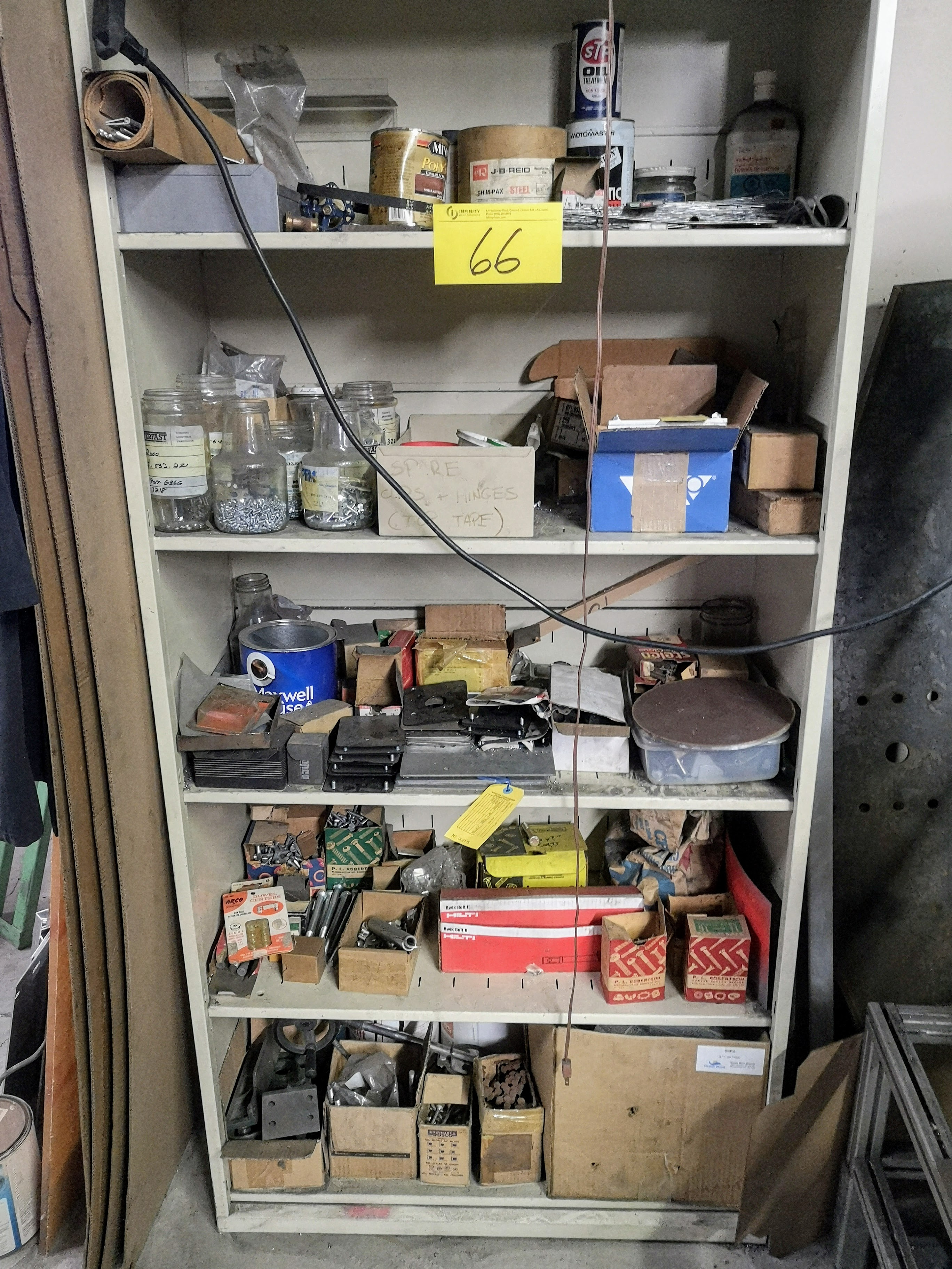 LOT CONTENTS OF (2) CABINETS, GRINDING/CUTTING DISCS, NUTS, BOLTS, ETC. - Image 2 of 2