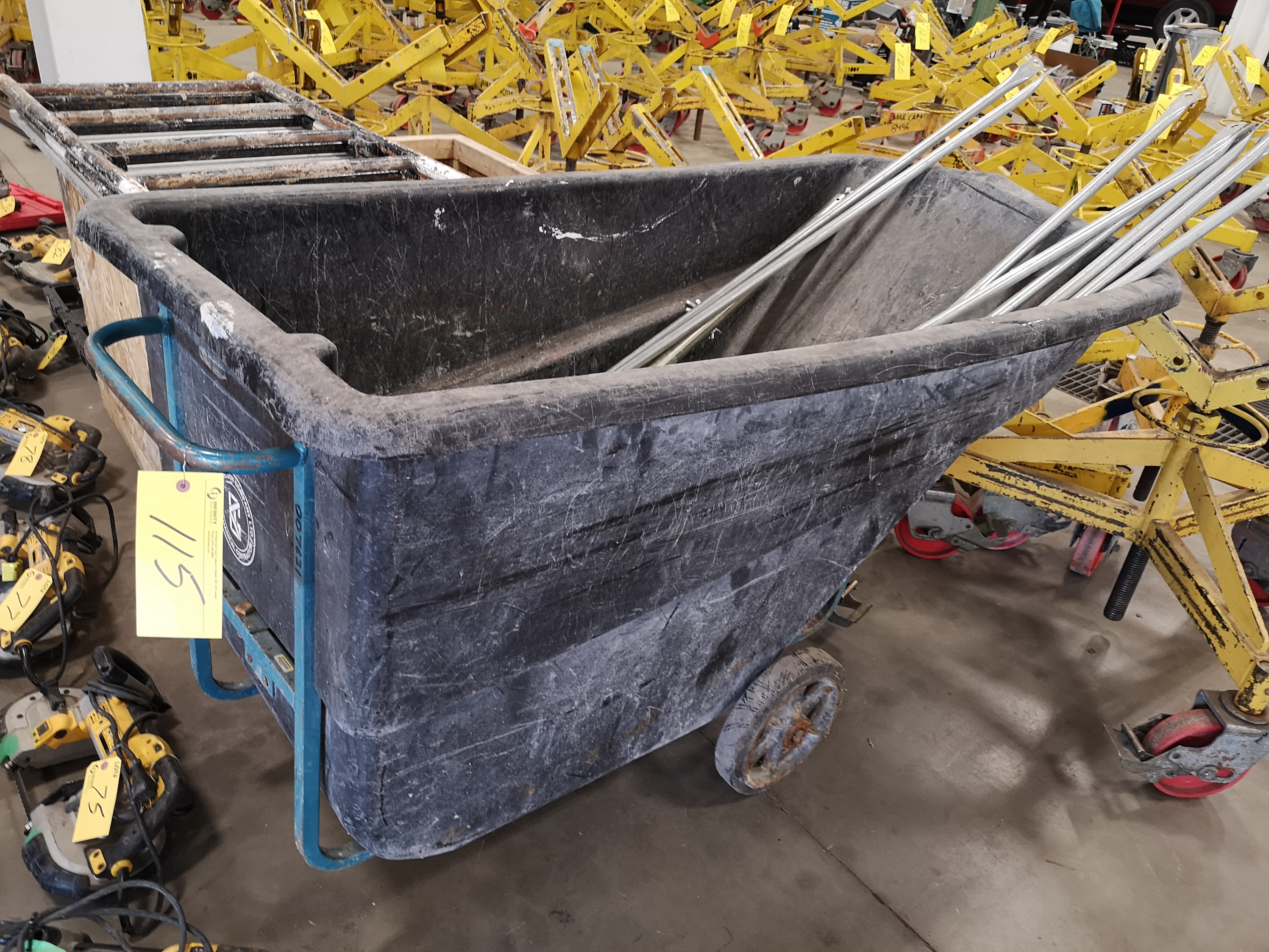 LOT OF SCAFFOLD PARTS AND POLYETHYLENE ROLLING DUMPING BIN (LOCATED AT 1135 STELLAR DRIVE, - Image 2 of 3