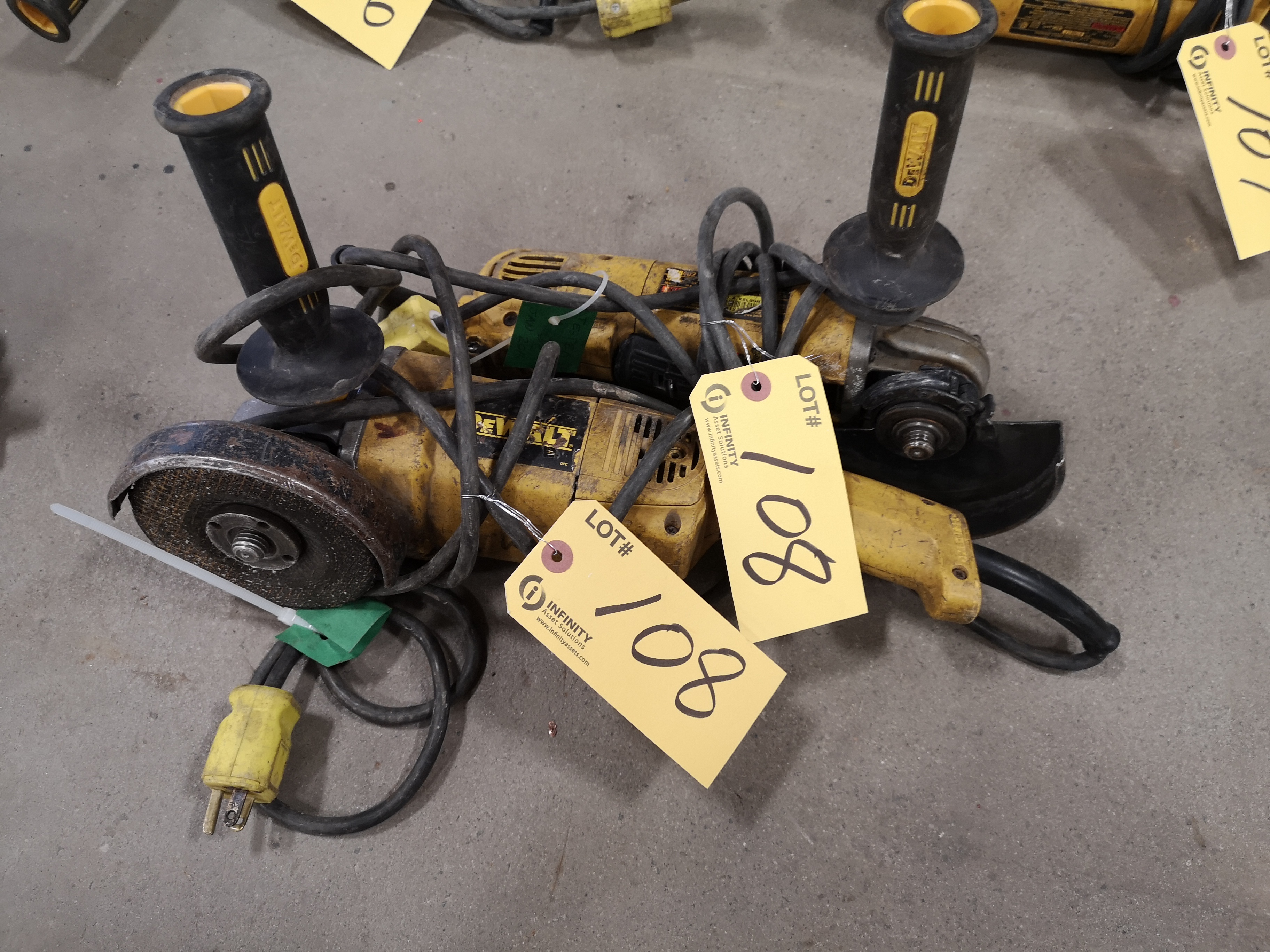 """LOT (2) DEWALT 4-1/2"""" AND 5"""" ANGLE GRINDER (LOCATED AT 1135 STELLAR DRIVE, NEWMARKET, ON)"""