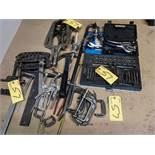LOT ASST. CLAMPS, GEAR PULLERS, TAP SET, ETC.