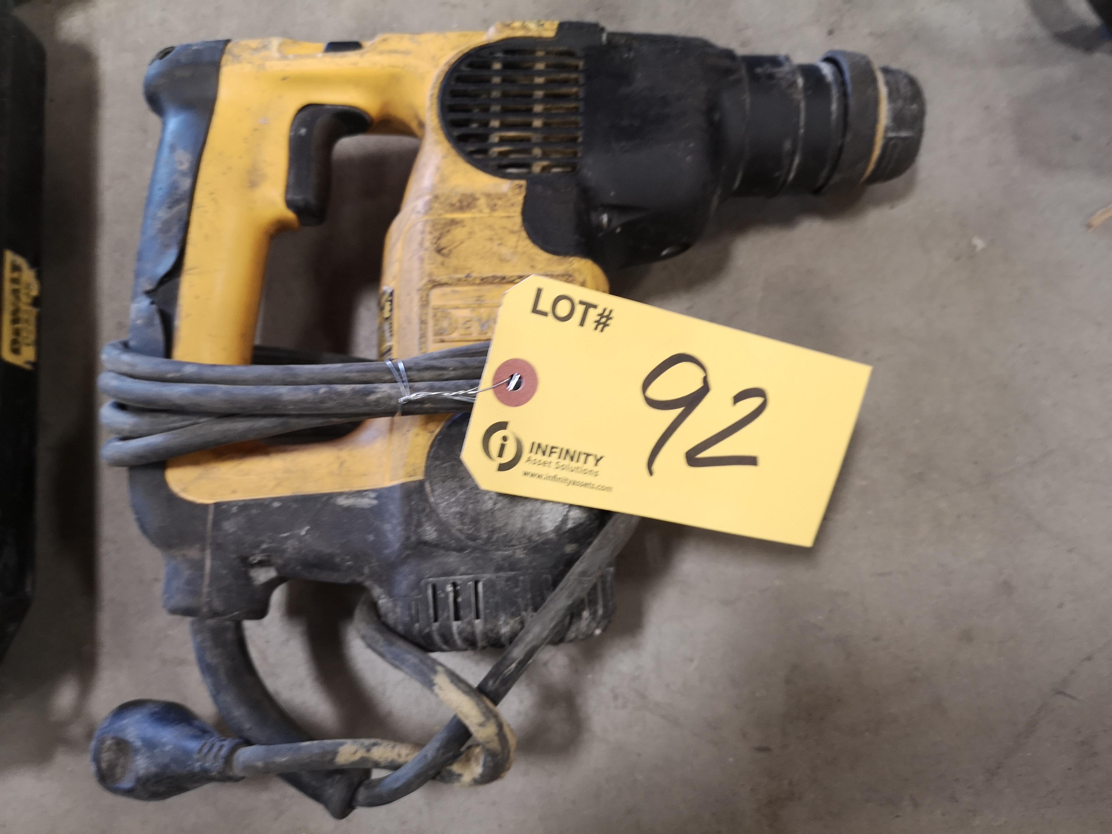 DEWALT D25313 L-SHAPE THREE MODE SDS ROTARY HAMMER DRILL (LOCATED AT 1135 STELLAR DRIVE,