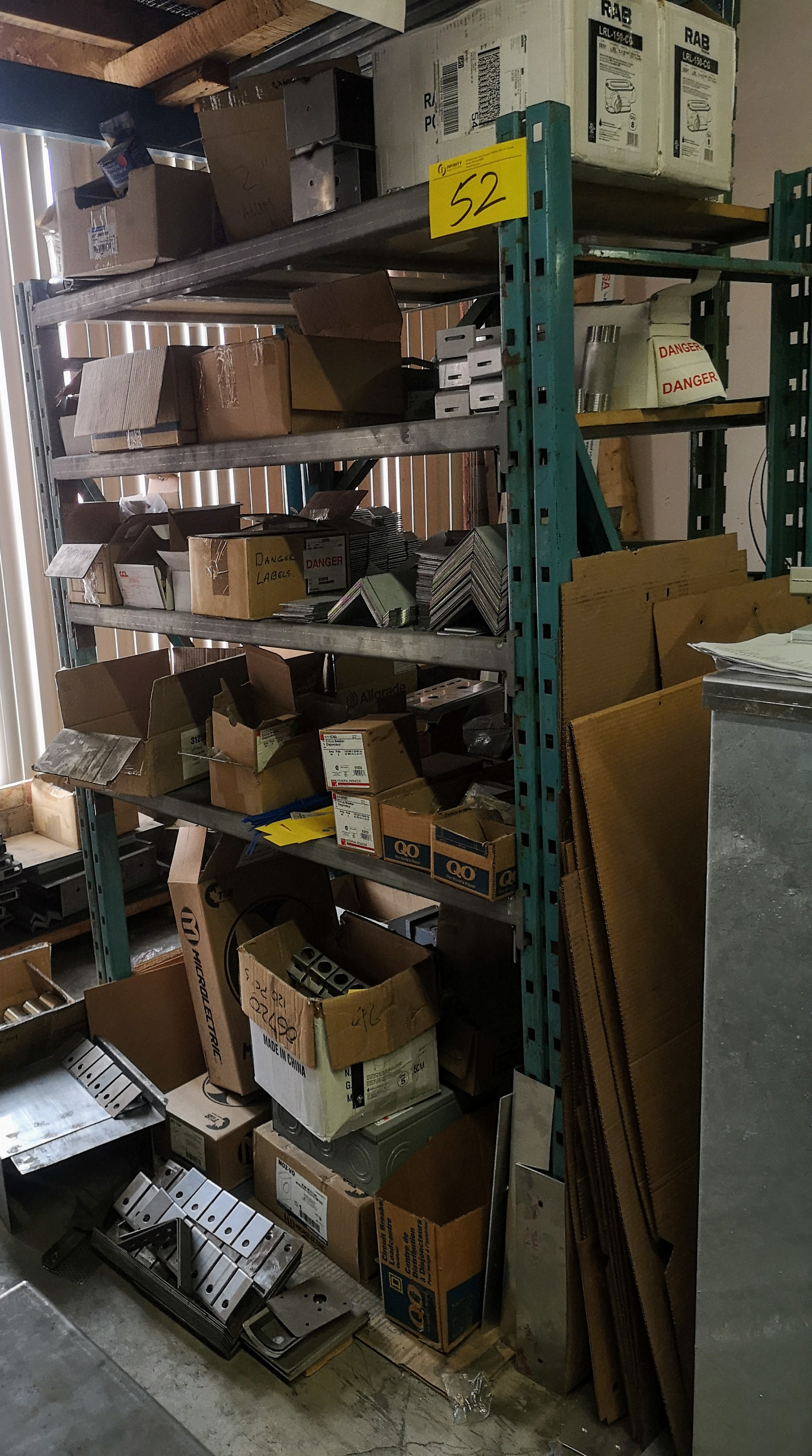 Lot 52 - LOT (2) SECTIONS ASST. PALLET RACKING
