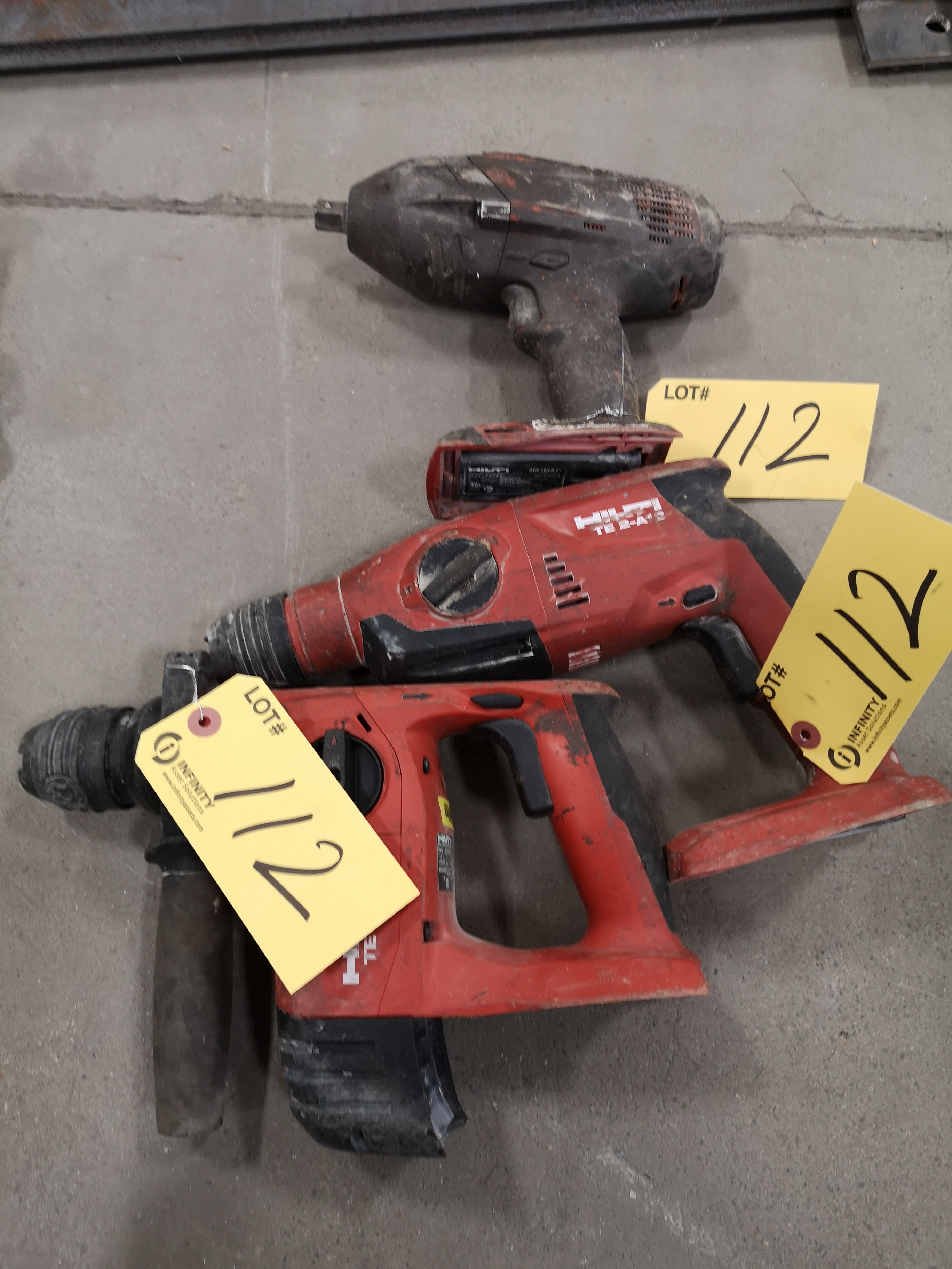 HILTI TE4-A18, TE2-A18 AND S1W18T-A (NO BATTERY OR CHARGER) (LOCATED AT 1135 STELLAR DRIVE,