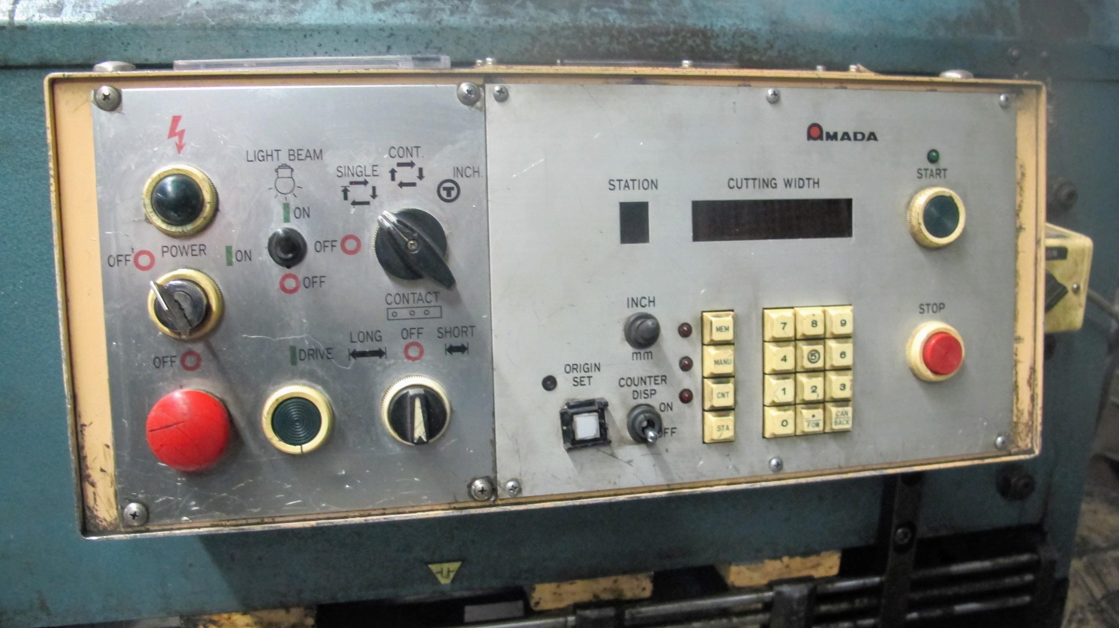 "AMADA M-2545 POWER SHEAR, 3/16"" X 96"" CAP., 60 SPM, S/N 2502496, 3 PHASE, 5.9KVA FULL LOAD - Image 4 of 7"