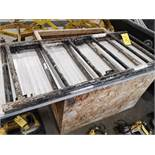 LOT OF SCAFFOLD PARTS AND POLYETHYLENE ROLLING DUMPING BIN (LOCATED AT 1135 STELLAR DRIVE,
